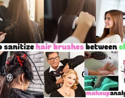 How to sanitize hair brushes between clients