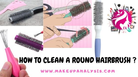 how to clean a round hairbrush