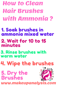 how to clean makeup brushes with ammonia