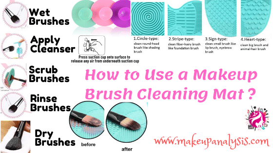 how to use makeup brush cleaning mat