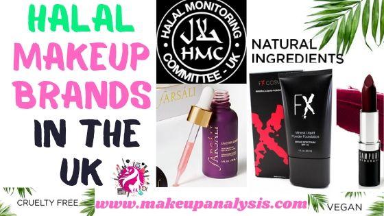 Halal makeup brands in the UK