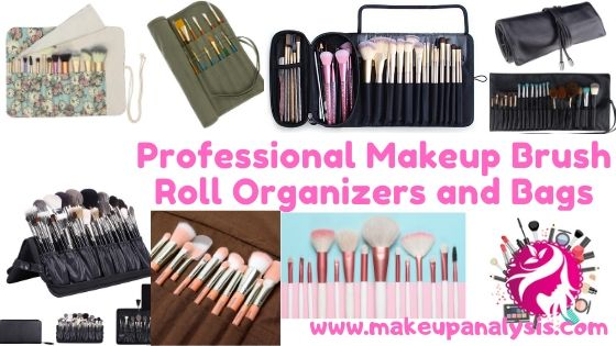 Professional Makeup Brush Roll Organizers and Bags