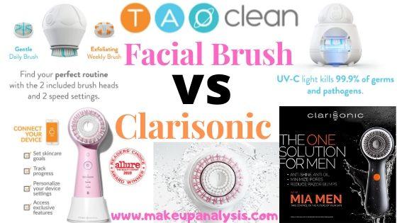 Tao Clean facial brush vs Clarisonic