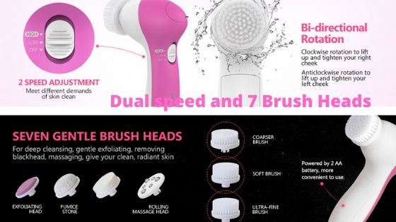 Pixnor Dual speed and 7 Brush Heads