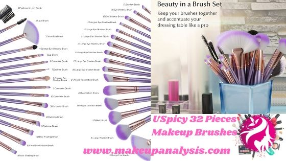 USpicy 32 Pieces Makeup Brushes