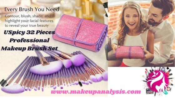 USpicy 32 Pieces Professional Makeup Brush Set