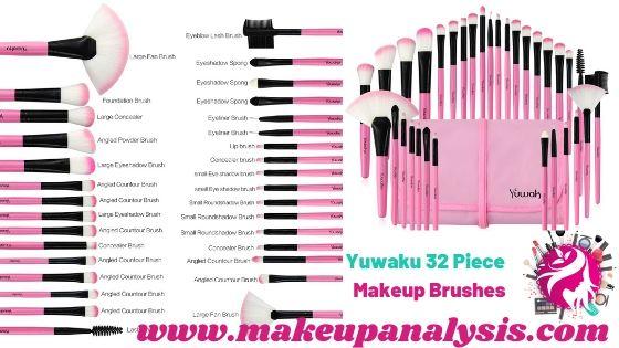 Yuwaku 32pcs makeup brushes