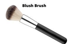 Blush brush for makeup