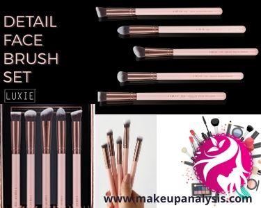 Luxie Rose Gold Detail Face Brush Set