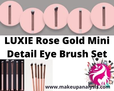 Luxie Rose Gold Mini Detail Eye Brush Set