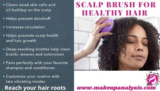 scalp brush for healthy hair