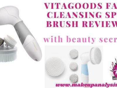 Vitagoods face cleansing spin brush reviews with beauty secrets
