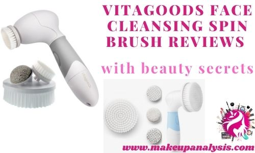 Vitagoods face cleansing spin brush reviews